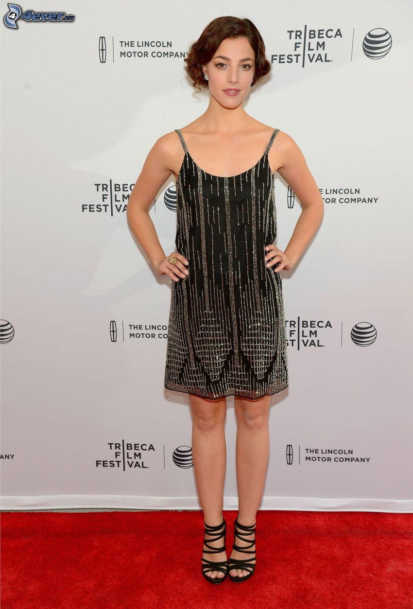 Olivia Thirlby, schwarzes Kleid
