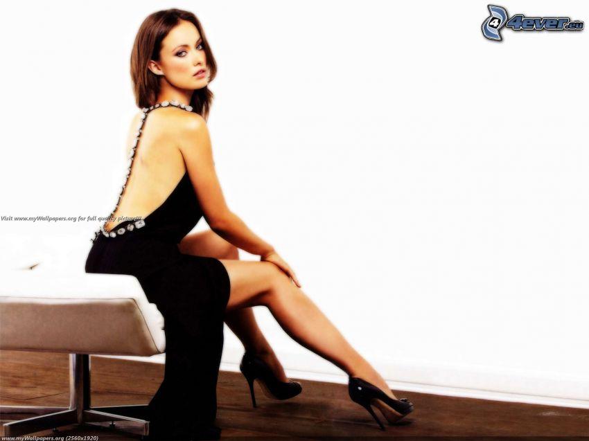 Olivia Wilde, schwarzes Kleid