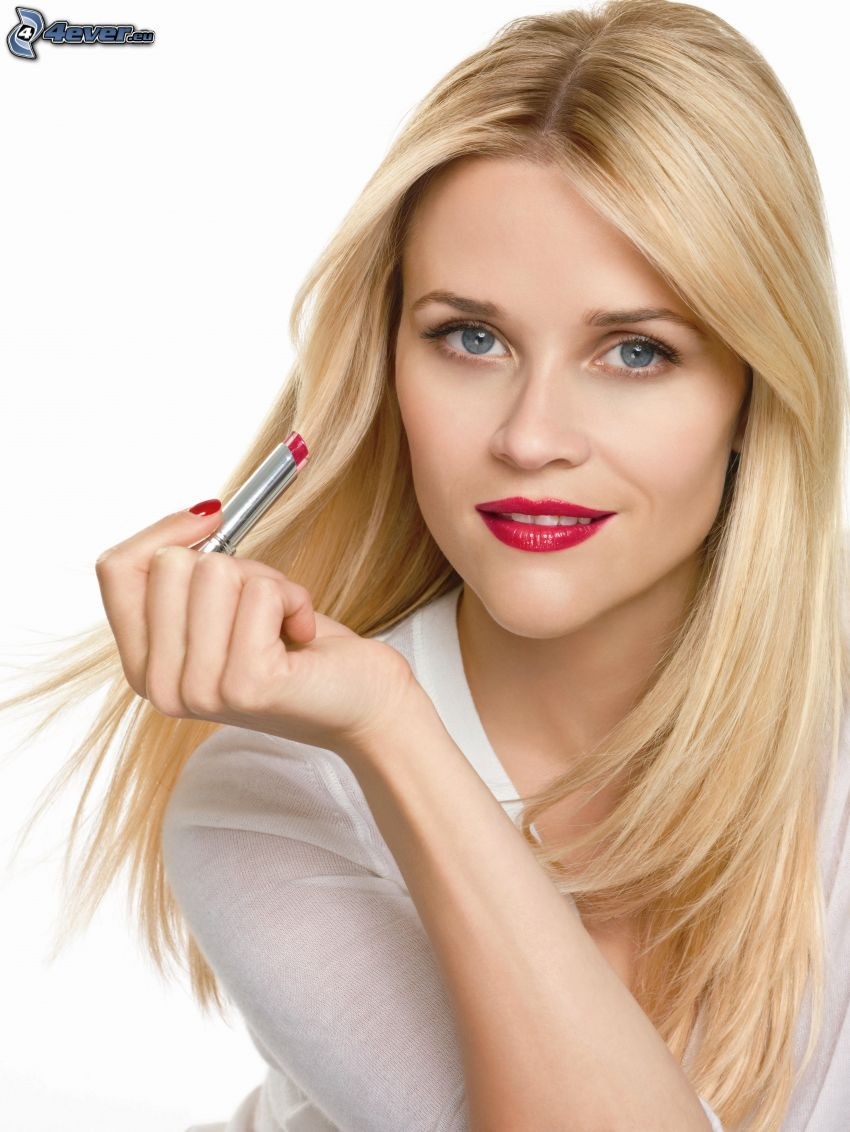 Reese Witherspoon, rote Lippen