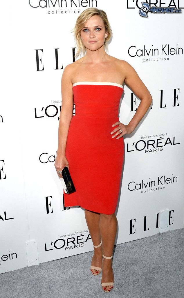 Reese Witherspoon, rotes Kleid
