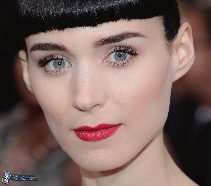 Rooney Mara, rote Lippen