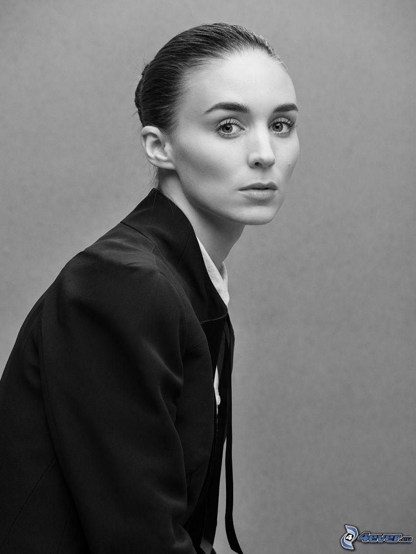 Rooney Mara, Schwarzweiß Foto