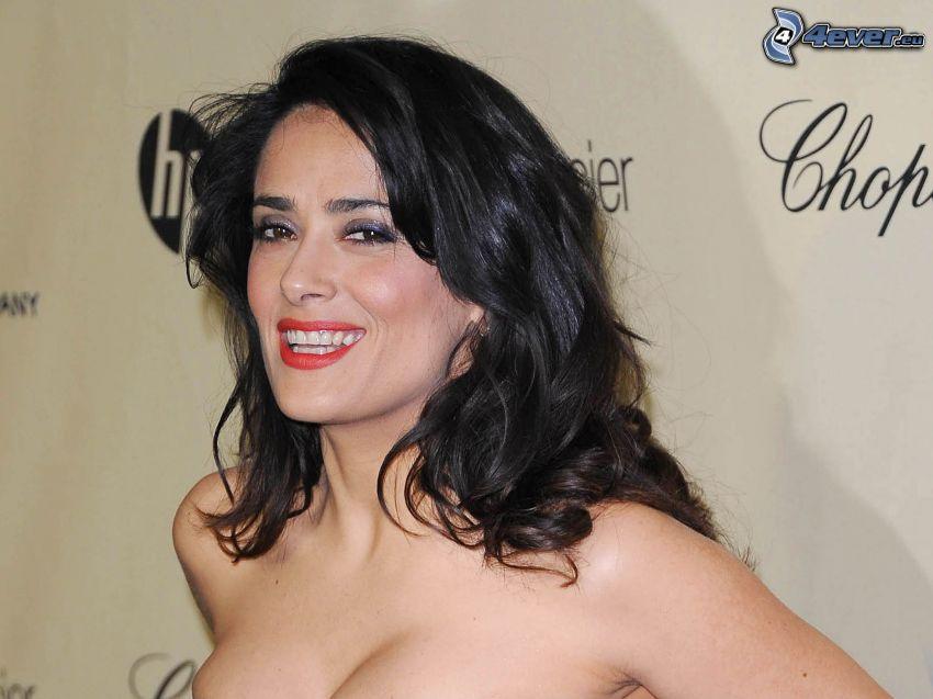 Salma Hayek, rote Lippen