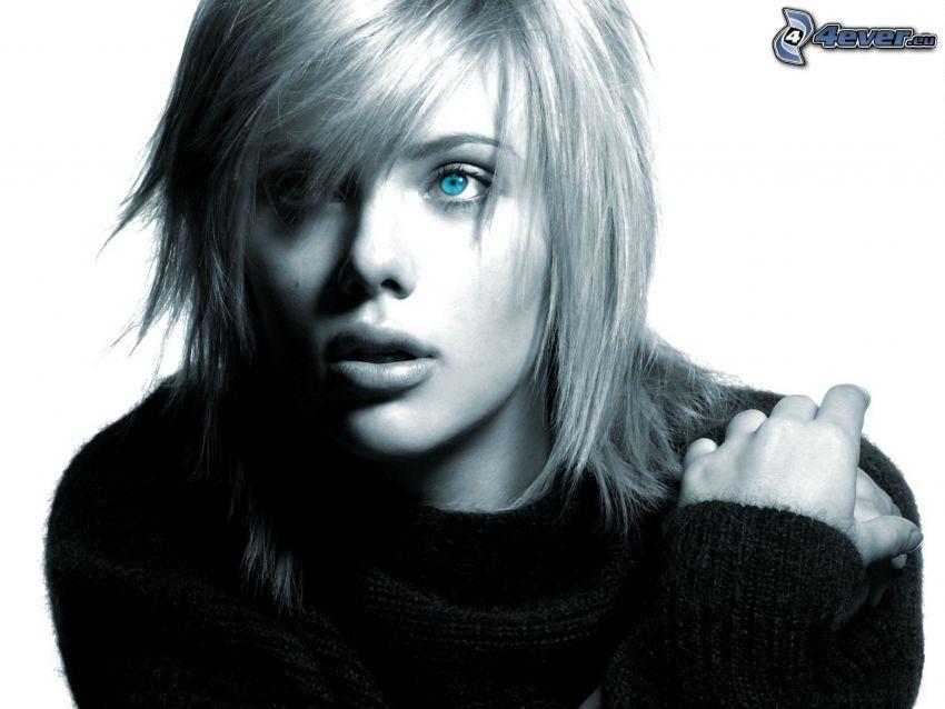 Scarlett Johansson, blaue Augen