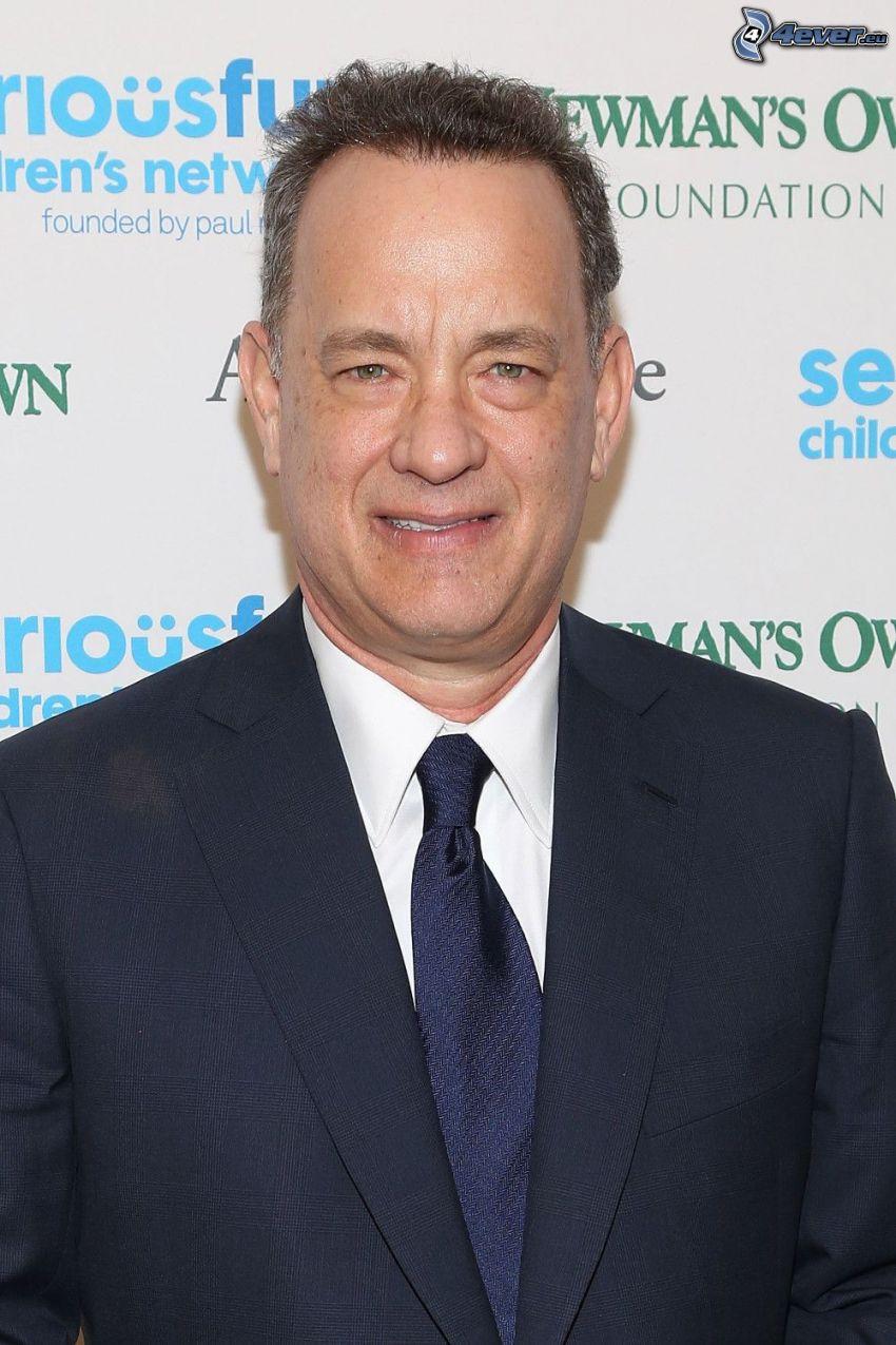 Tom Hanks, mann im Anzug, Lächeln