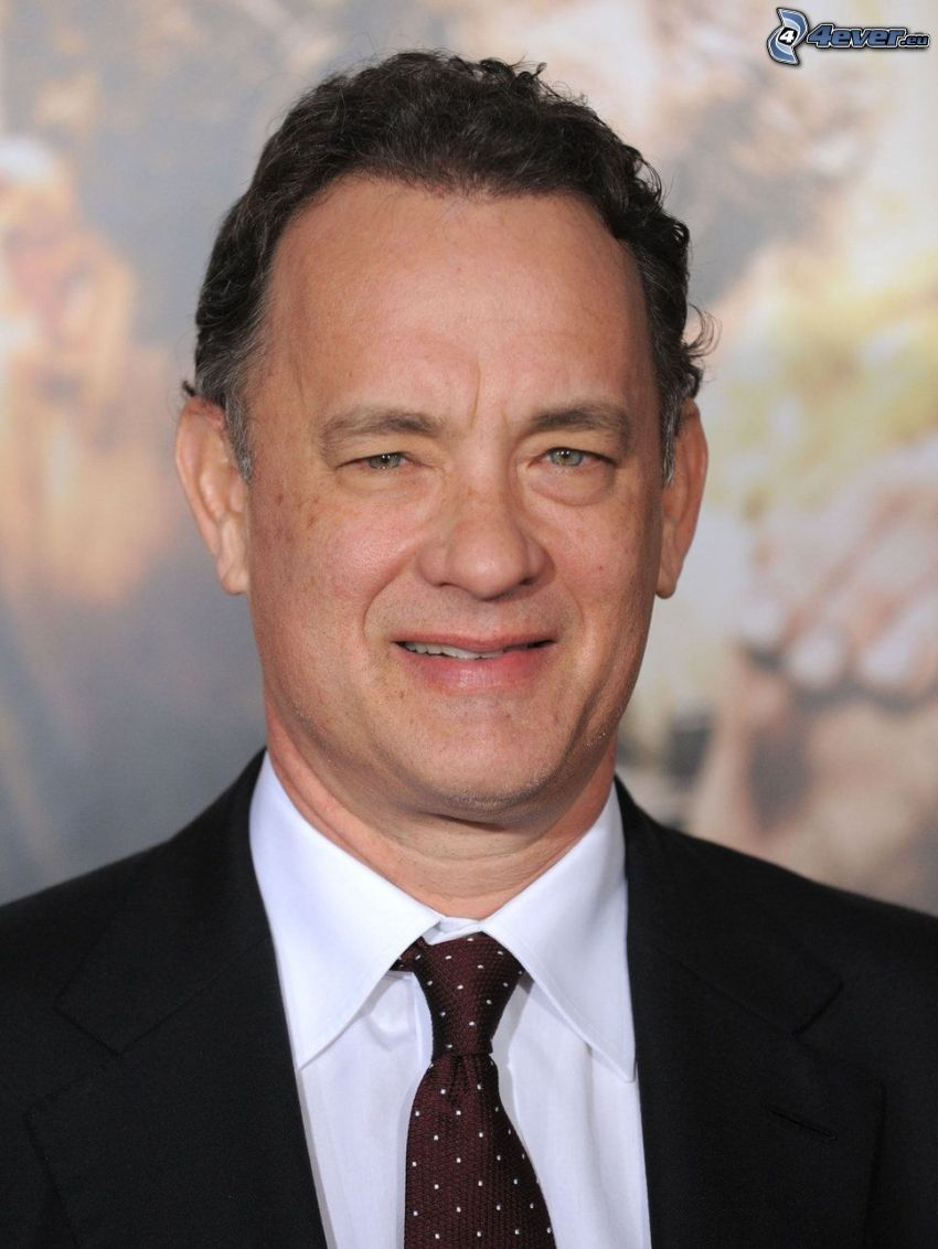 Tom Hanks, mann im Anzug