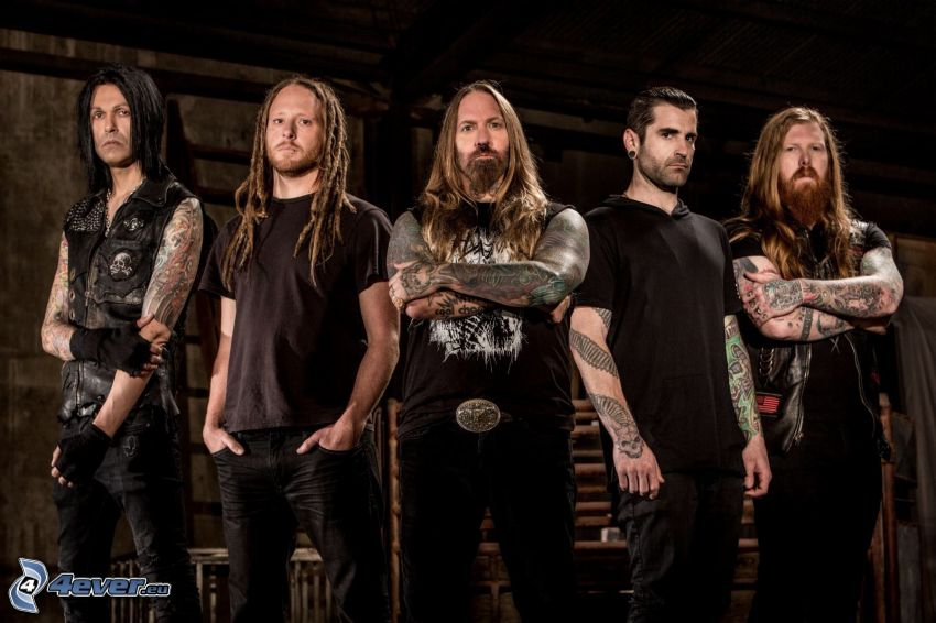 Avenged Sevenfold, tätowierter Kerl, langes Haar