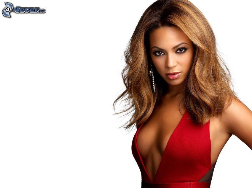 Beyoncé Knowles, rotes Kleid