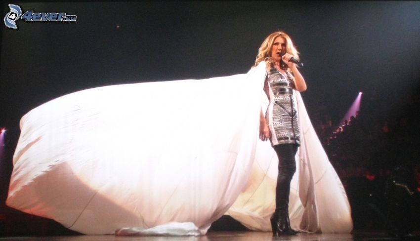 Celine Dion, Kleid, Singen