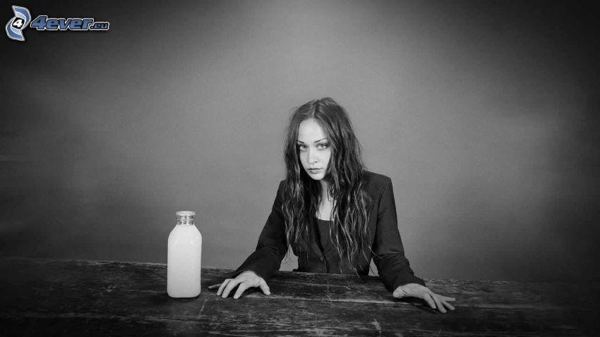 Fiona Apple, Jacke, Milch, Schwarzweiß Foto