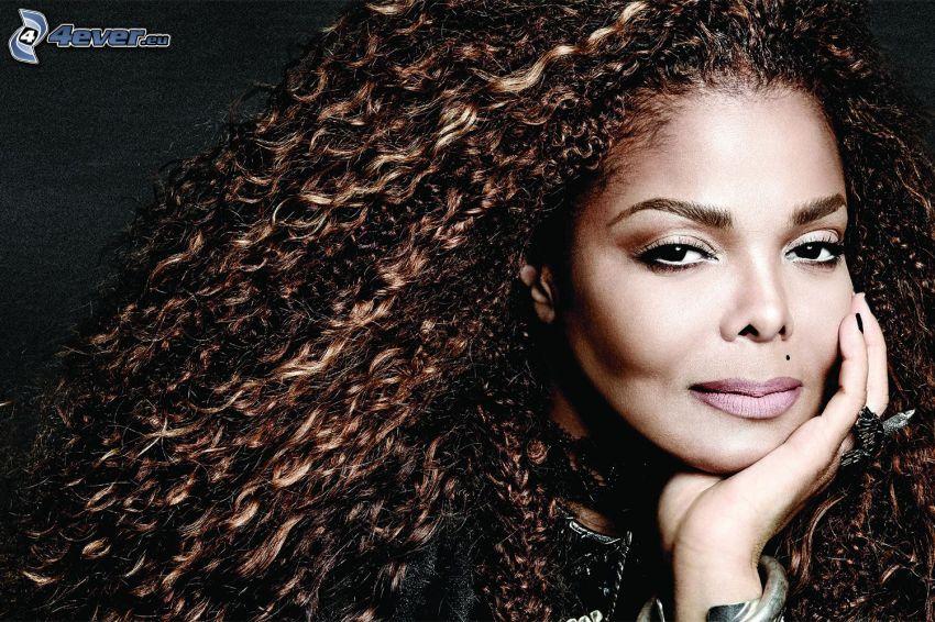 Janet Jackson, lockiges Haar