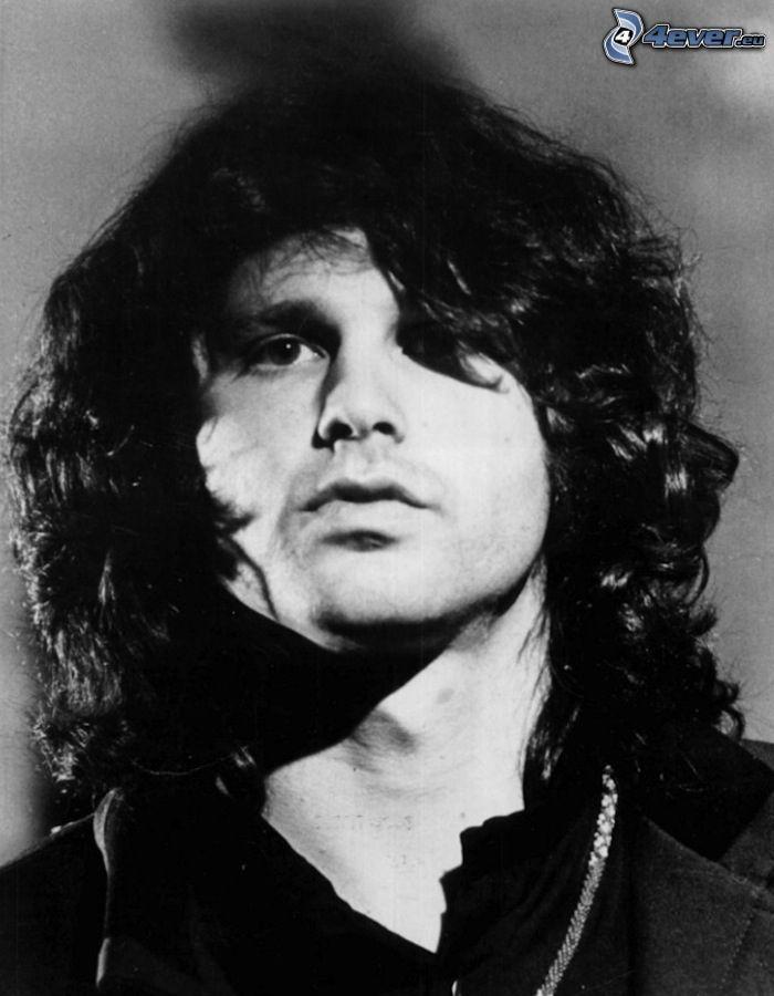 Jim Morrison, Schwarzweiß Foto