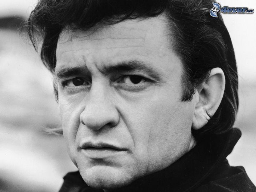 Johnny Cash, Schwarzweiß Foto