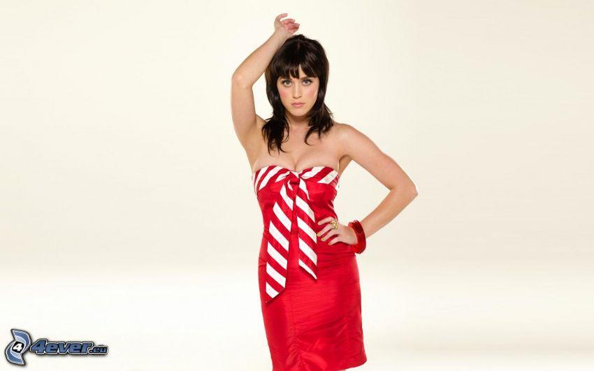 Katy Perry, rotes Kleid
