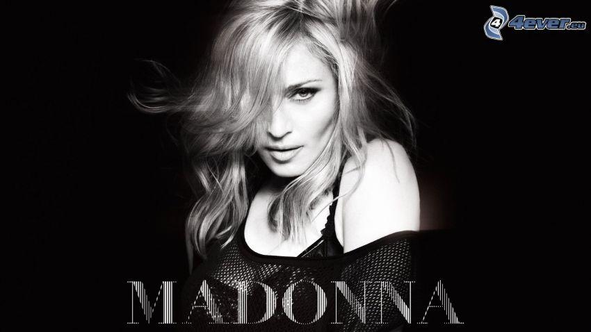 Madonna, Schwarzweiß Foto