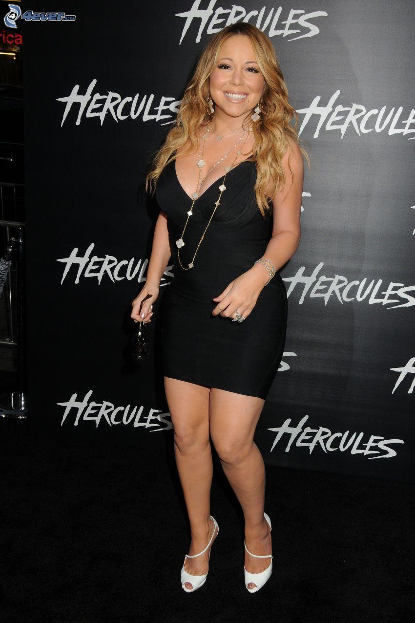 Mariah Carrey, schwarzes Kleid
