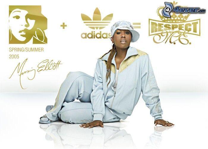 Missy Elliott, rapper, Adidas, respect, Baseballcap