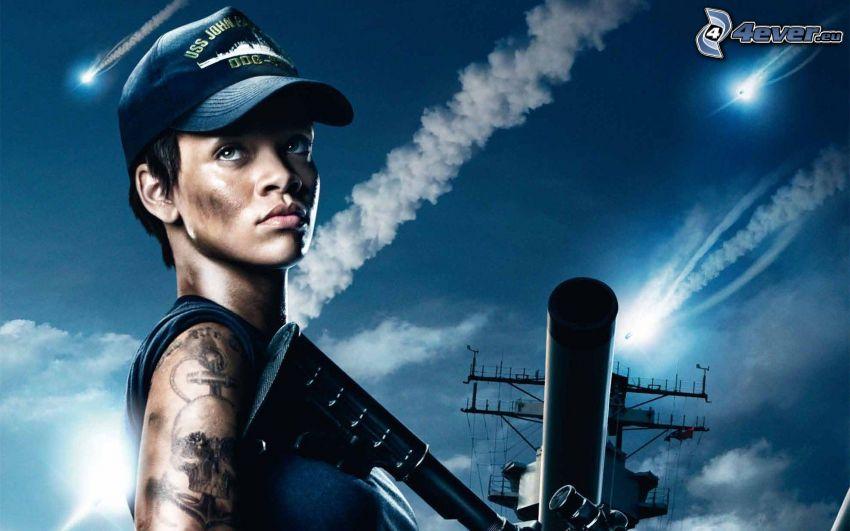 Rihanna, Waffen