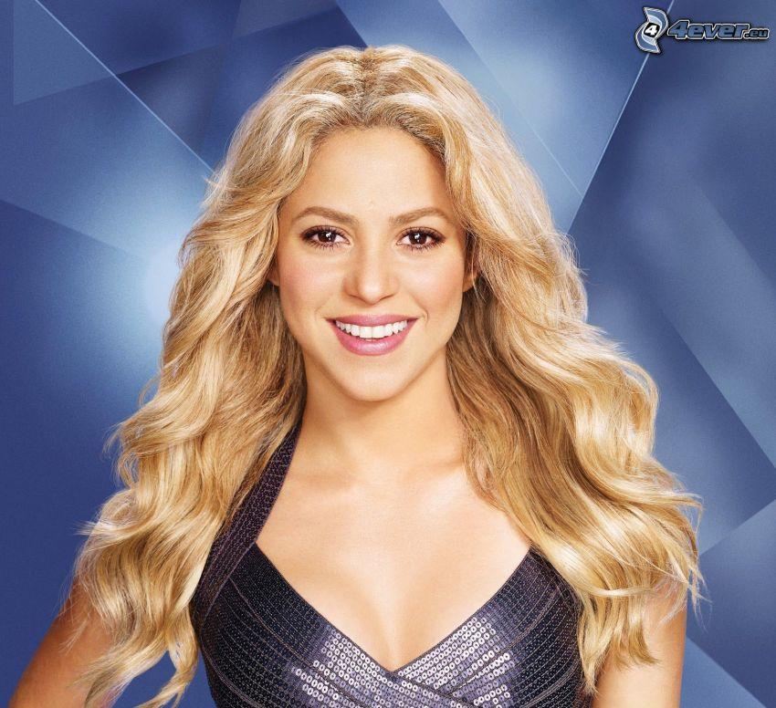 Shakira, Lächeln, Pailletten-Kleid