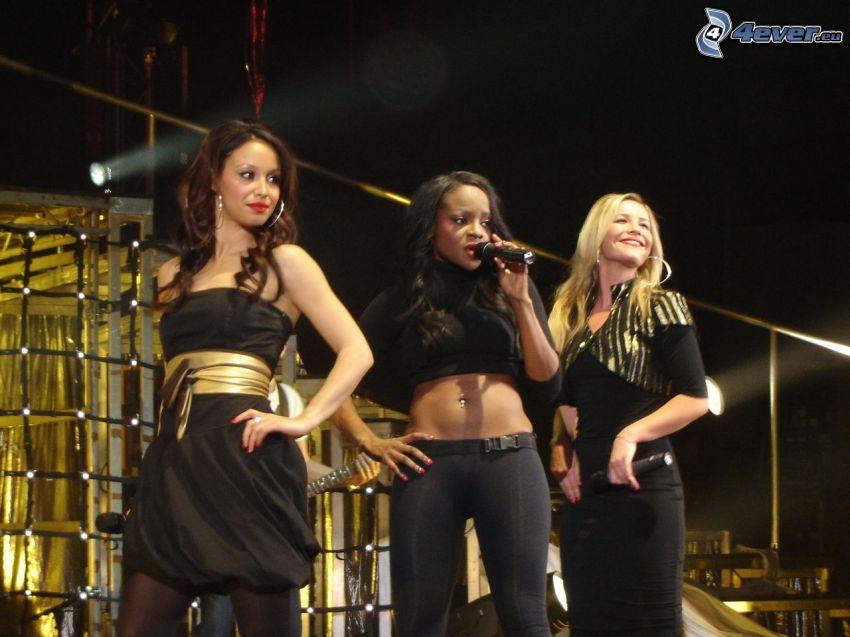 Sugababes, schwarzes Kleid, Singen