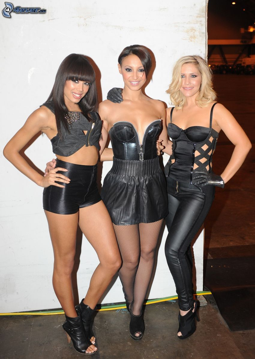 Sugababes, schwarzes Kleid