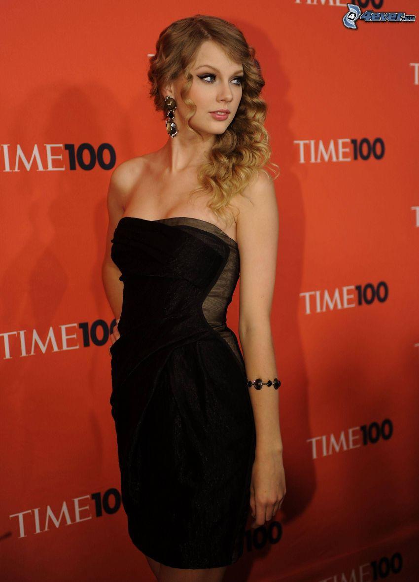 Taylor Swift, schwarzes Kleid