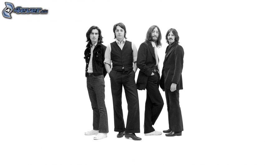 The Beatles, Schwarzweiß Foto
