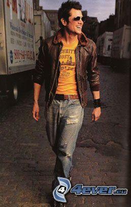 Schauspieler, Modell, Junge, Mann, zerlumpte Jeans, Jacke