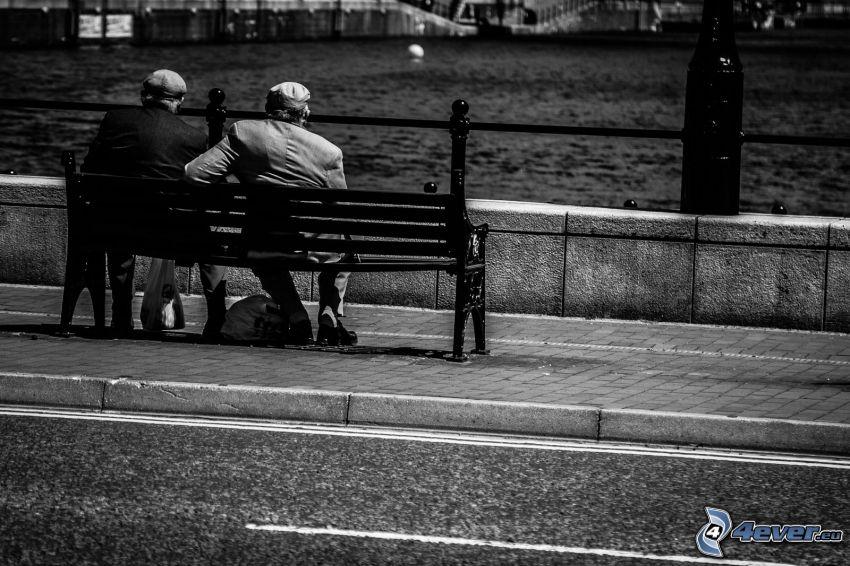 Sitzbank, Menschen