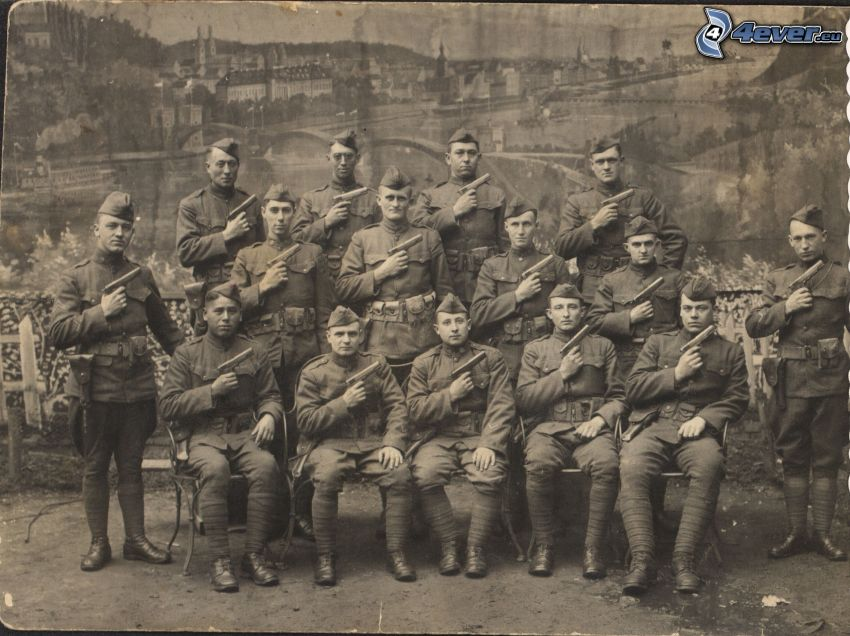 Soldaten, altes Foto