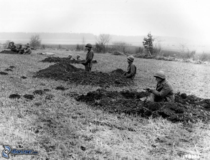 Soldaten, Krieg, altes Foto