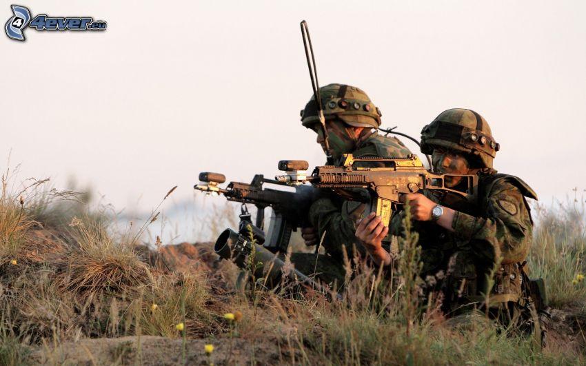 Soldaten, Soldat mit einem Gewehr