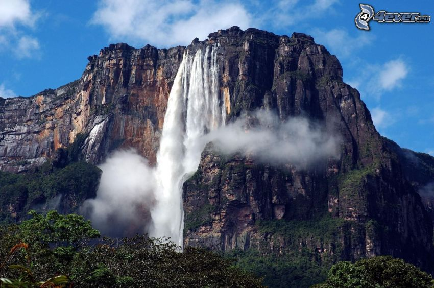 Angel Wasserfall, Felsen