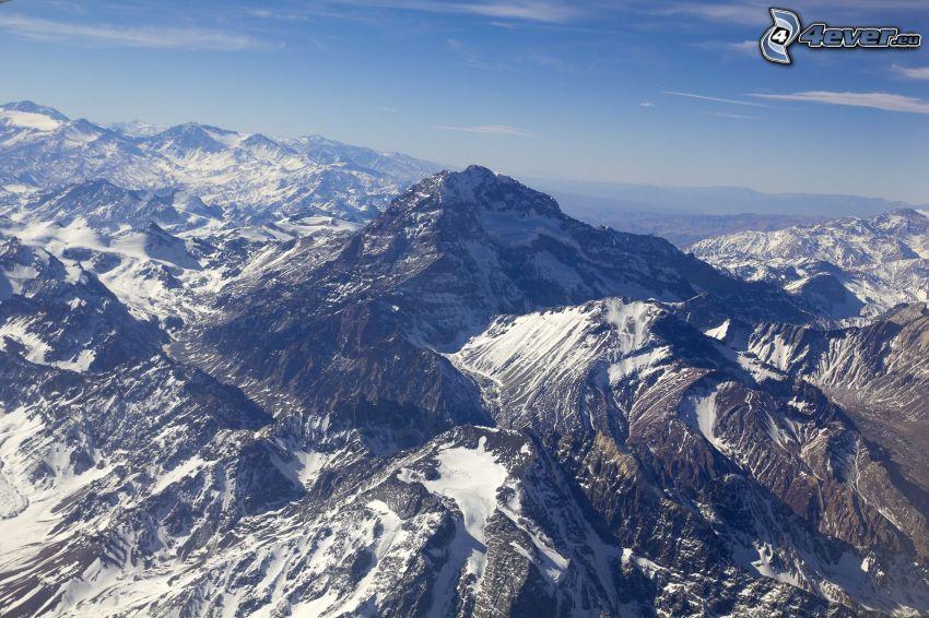 Aconcagua, felsige Berge