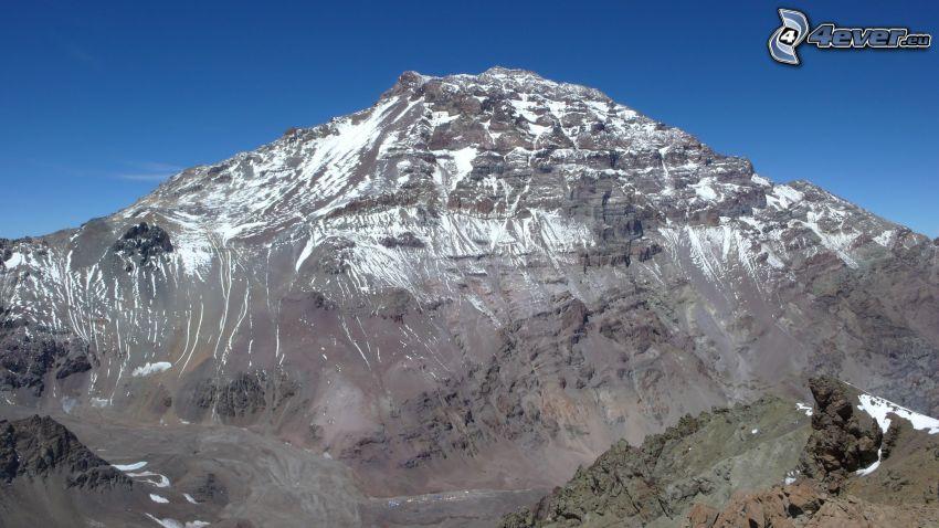 Aconcagua, felsiger Berg
