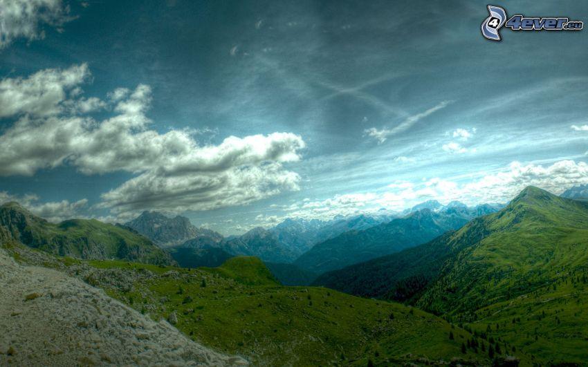 Aussicht auf die Landschaft, Hügel