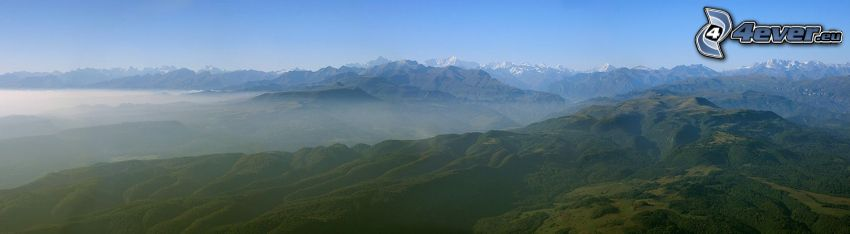 Berge, Nebel, Panorama