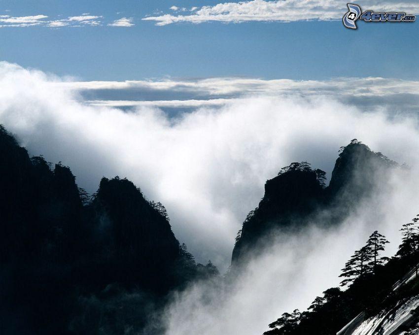 hohe Berge, Wolken