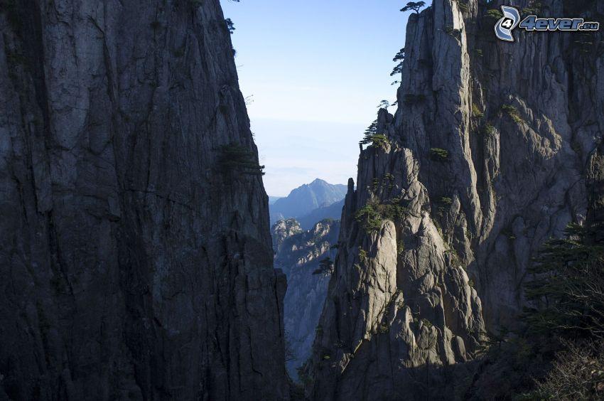 Huangshan, felsige Berge