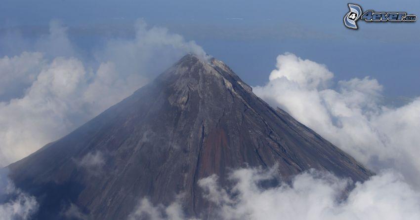 Mount Mayon, Vulkan, Wolken, Philippinen