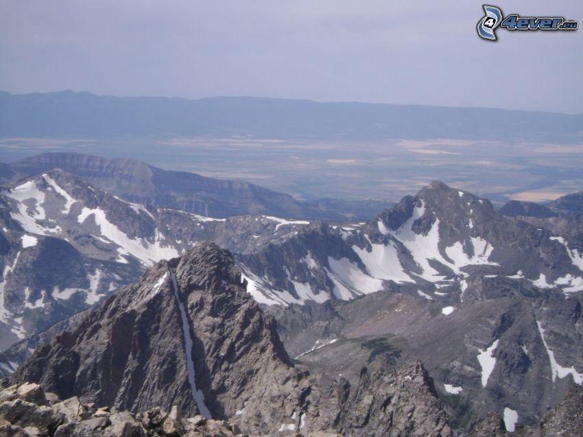 Mount Moran, Wyoming, felsige Berge