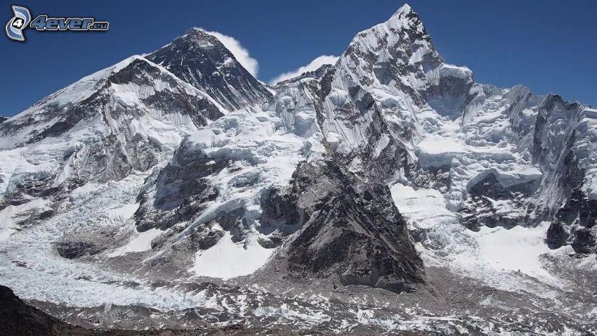 Mount Nuptse, schneebedeckten Berg, Nepal