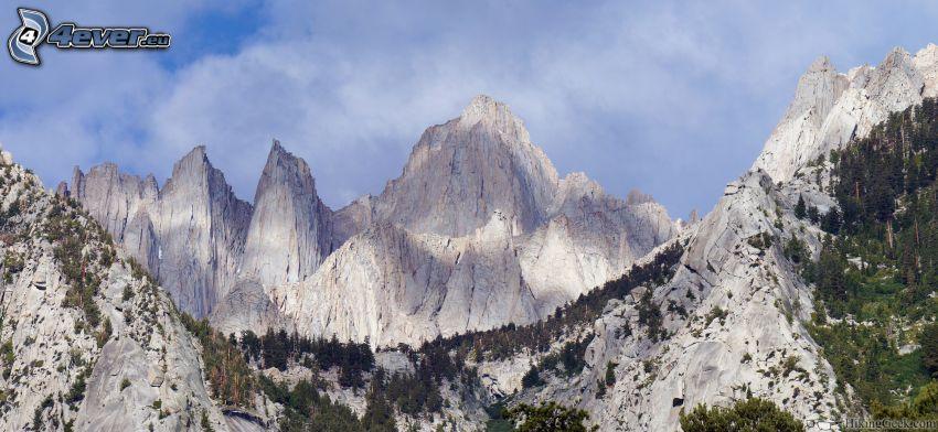 Mount Whitney, felsige Berge