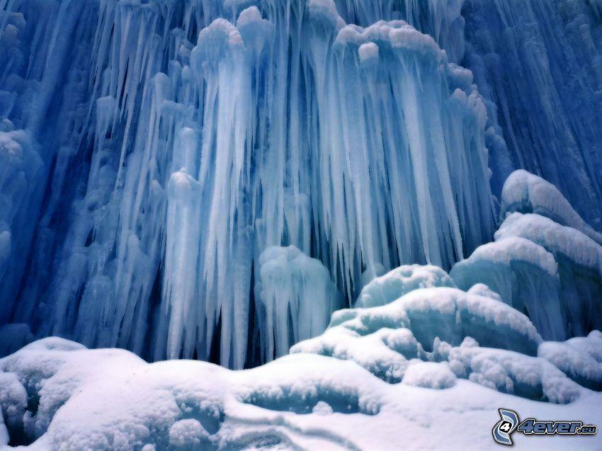 Eiszapfen, gefroren