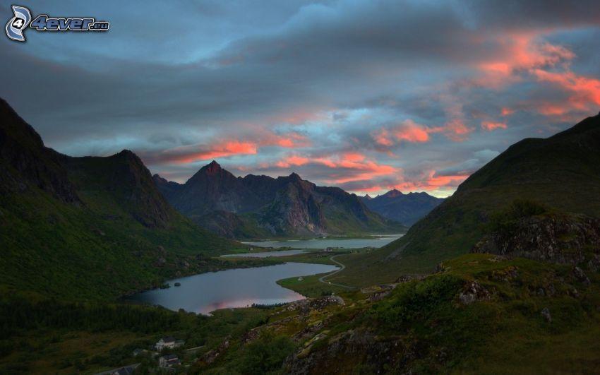 Fluss, Berge, Himmel