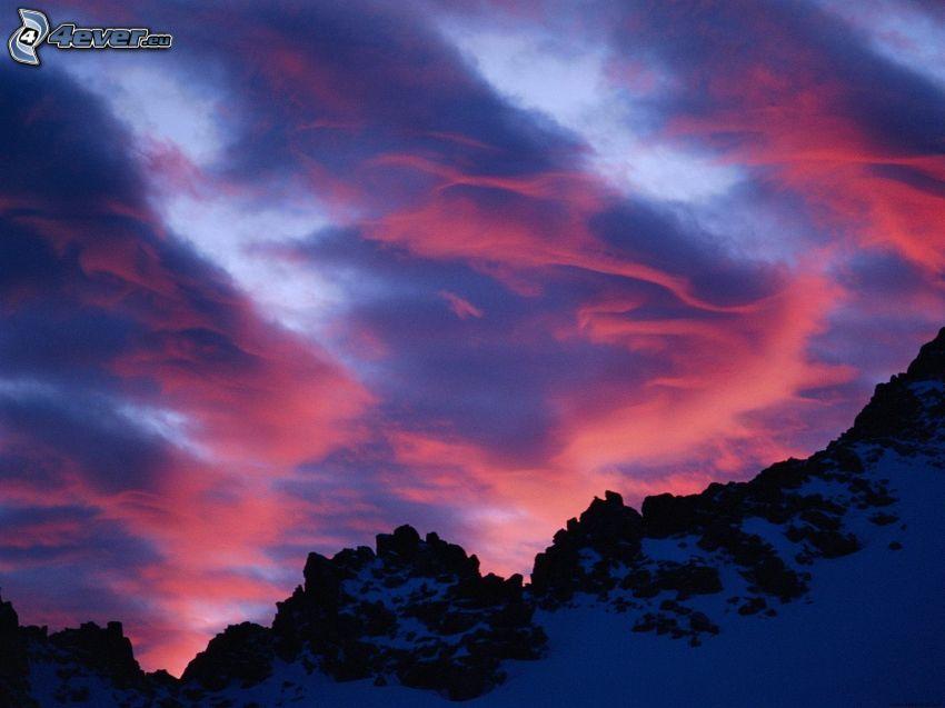 Berge, Himmel, Wolken