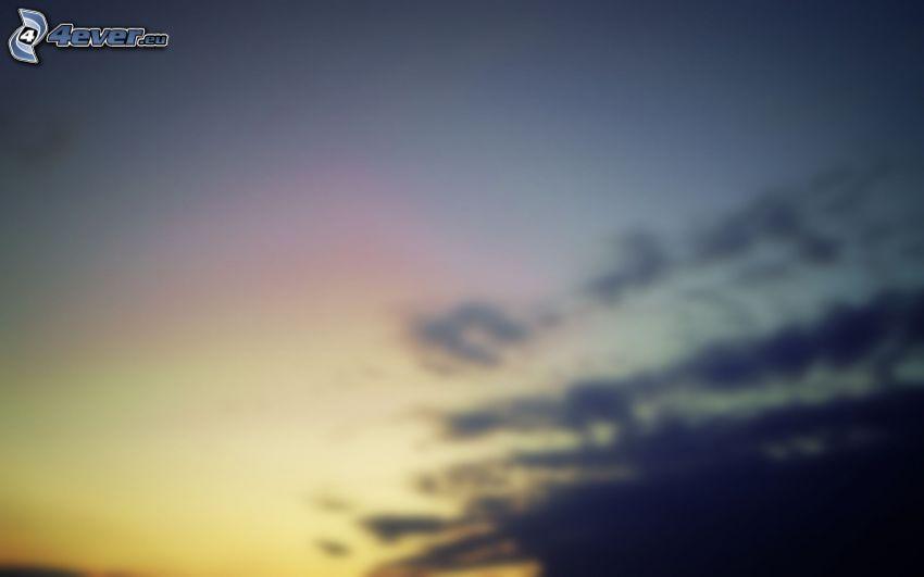 Himmel, dunkle Wolken