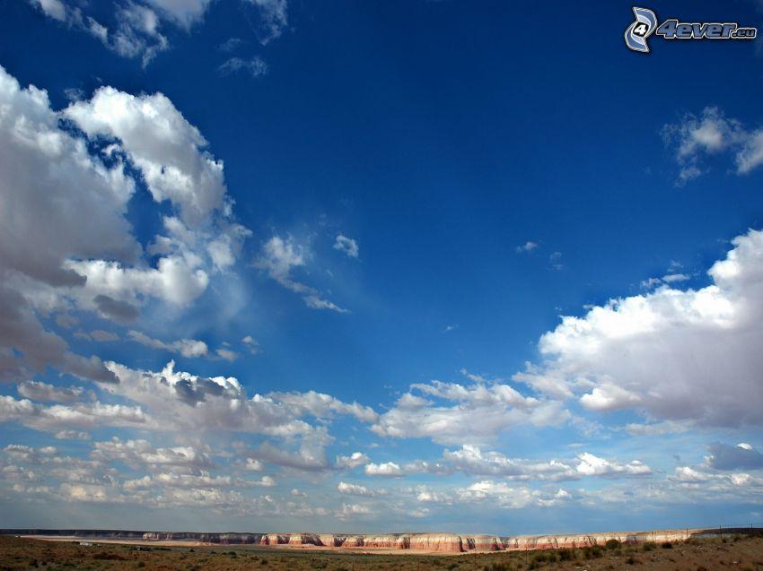 Himmel, Wolken, Felsen