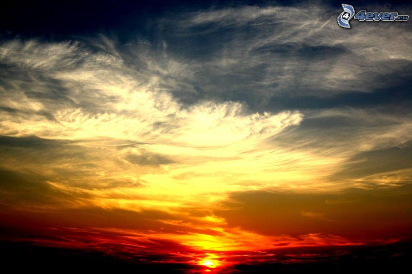 Sonnenuntergang, Himmel