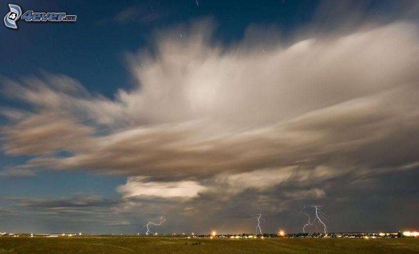 Wolken, Blitze